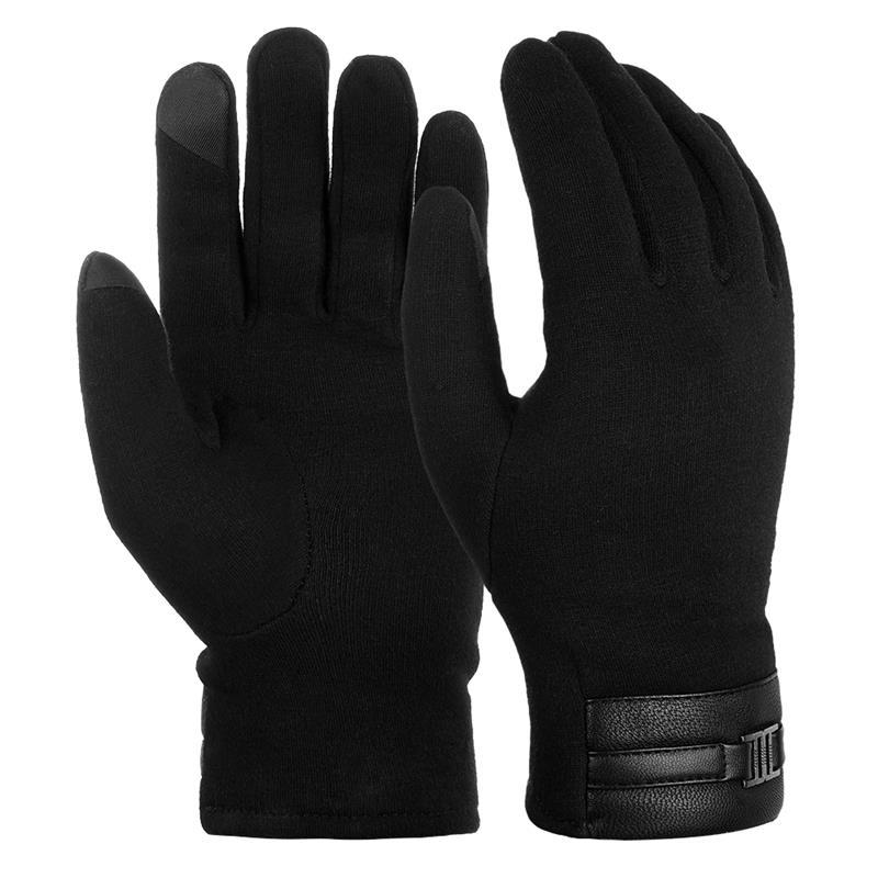 Vbiger Men Women Winter Anti-slip Gloves Outdoor Cycling Running Winter Warm Gloves Touch Screen Gloves Sports Gloves