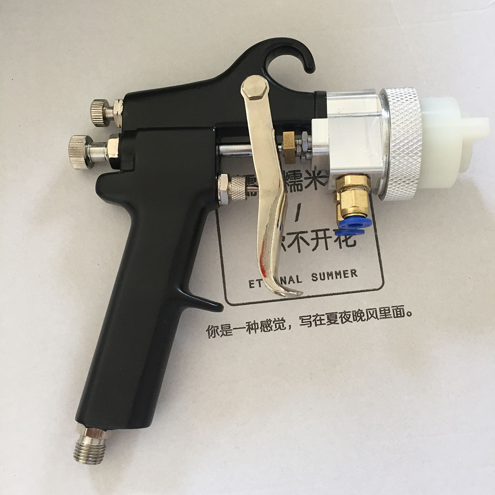 цена на SAT1182 double nozzle spary gun air painting spray gun for painting cars high pressure car chrome paint air paint pistol