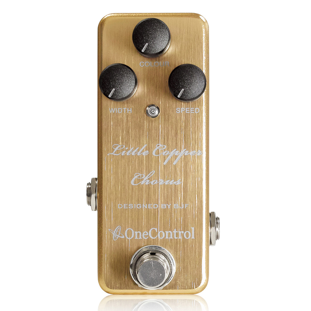 Japan One Control BJF Little Copper Chorus Guitar Effect Pedal japan one control bjf little copper chorus guitar effect pedal