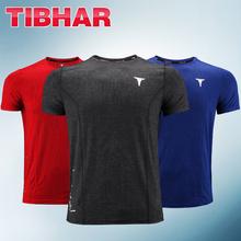 Tibhar tenis stołowy Odzież z krótkim rękawem okrągły kołnierz 2019 powietrze-przepuszczalny i szybkoschnący sportowy T-shirt Sport Jersey tanie tanio Unisex Pasuje do rozmiaru Weź swój normalny rozmiar 01902