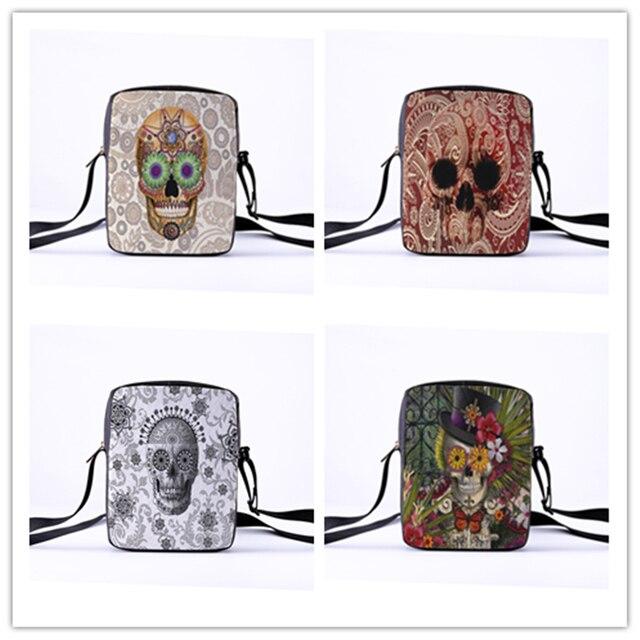 2019 Fashion Messenger Bags for women Punk style Shoulder Bag Children Crossbody Bag for Girl skull style children bag 23x17x5cm 2