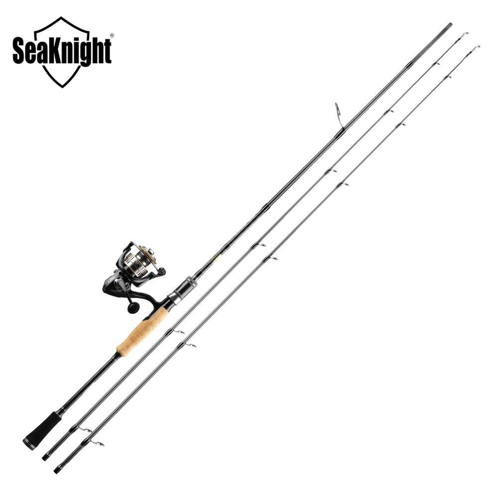 2018 New SeaKnight Fishing Rod Combo Falcon TREANT II Reel 2.1M 2.4M 2 Tips M ML 11BB 11kg Max Drag 6.2:1 Fishing Rod Set цена 2017