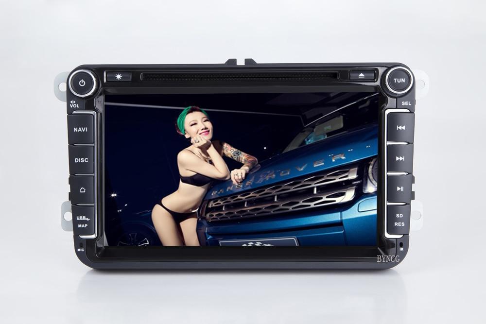 Lecteur multimédia de voiture BYNCG 2 Din autoradio Android 8.1 pour Skoda/Seat/Volkswagen/Passat b7/POLO/GOLF 5 6 DVD GPS 4 cœurs