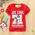 Camisetas de los muchachos de los niños camisetas de manga corta lindo historieta de los muchachos niños del verano que desgasta la ropa los niños lindos de impresión camisa del perro