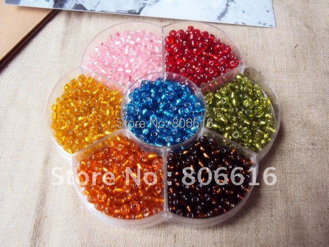 Promotion ~ ONE Box For Silver Core Czech Glass Seed Beads Loose Spacer Beads Jewelry Findings 4MM 100G/1200Pcs/Set