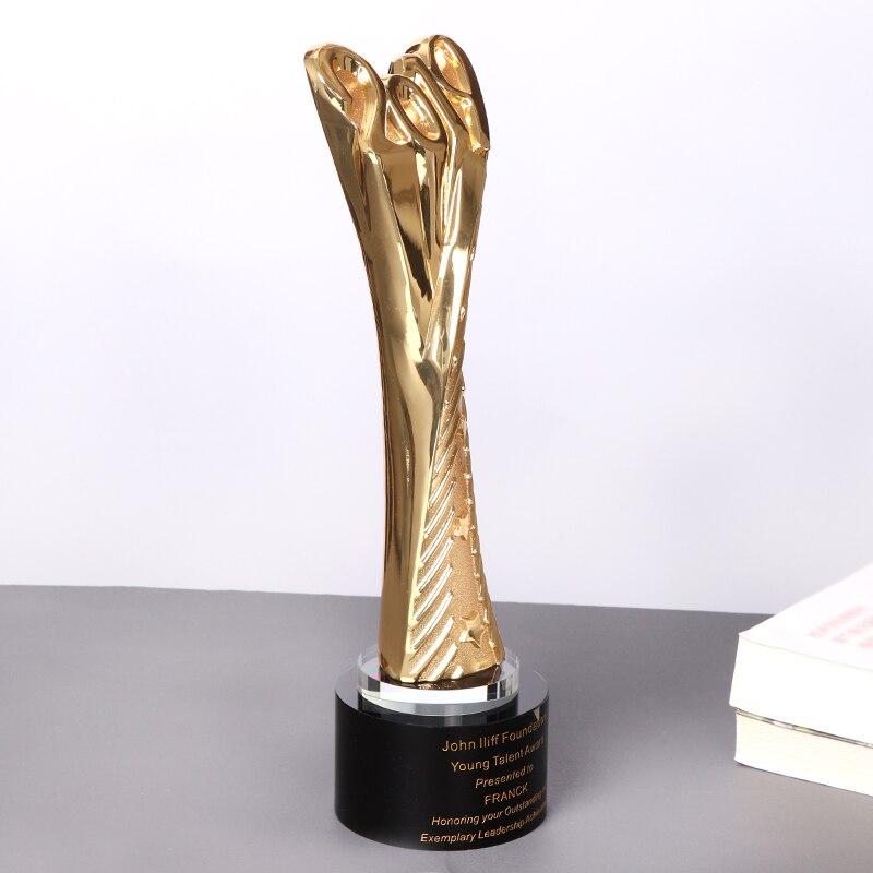 Nickel Plaqué Métal Moulé Cup Trophy Award Gravure Gratuite 9 tailles