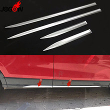 4 stks Mat Zilver Voor Audi Q2 2017 2018 2019 Auto Styling Deur Side Body Molding Strip Cover Trim Accessoires ABS Chrome(China)