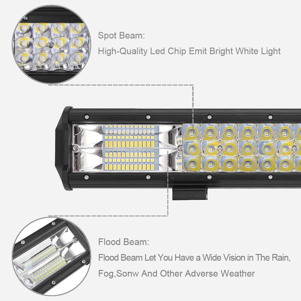 23 26 28 32 Inch 3 Row 12v 24v Led Bar For Boat Truck 4wd Atv Utv Suv 4x4 Offroad Work Light Combo Beam Amber Driving Lights