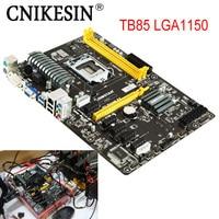 CNKESIN 100 Original TB85 LGA1150 Mining Industry Motherboard For Biostar TB85 LGA 1150 DDR3 6 PCI