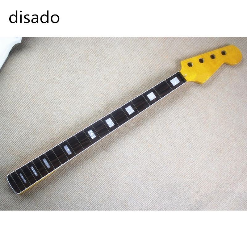 Top quality 20 Frets Maple Electric bass Guitar Neck rosewood fingeboard Guitar Parts guitarra musical instruments accessories free shipping semi hollow body aaaaa quilted maple top gold hardware jazz es 335 345 electric guitar guitarra all color accept