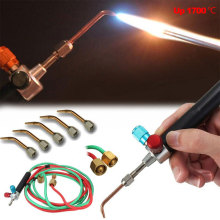 Mini Gas Welding Torch Gun Soldering Kit Oxygen Acetylene Gun Welding Platinum Metal Stainless Steel Welding Soldering Tool Free 2014 gold welding torch goldsmith equipment oxygen acetylene torch