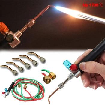 цена на Mini Gas Welding Torch Gun Soldering Kit Oxygen Acetylene Gun Welding Platinum Metal Stainless Steel Welding Soldering Tool Free