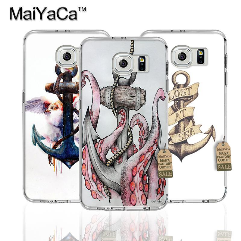 MaiYaCa Anker birds and boat anchor Transparent TPU Soft Phone Accessories Case For Samsung s7 edge s8 s8plus s9 case