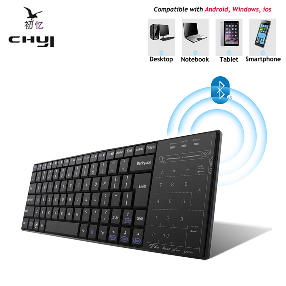 ultra slim bluetooth 3 0 wireless gaming keyboard touch pad for windows mac ios android. Black Bedroom Furniture Sets. Home Design Ideas