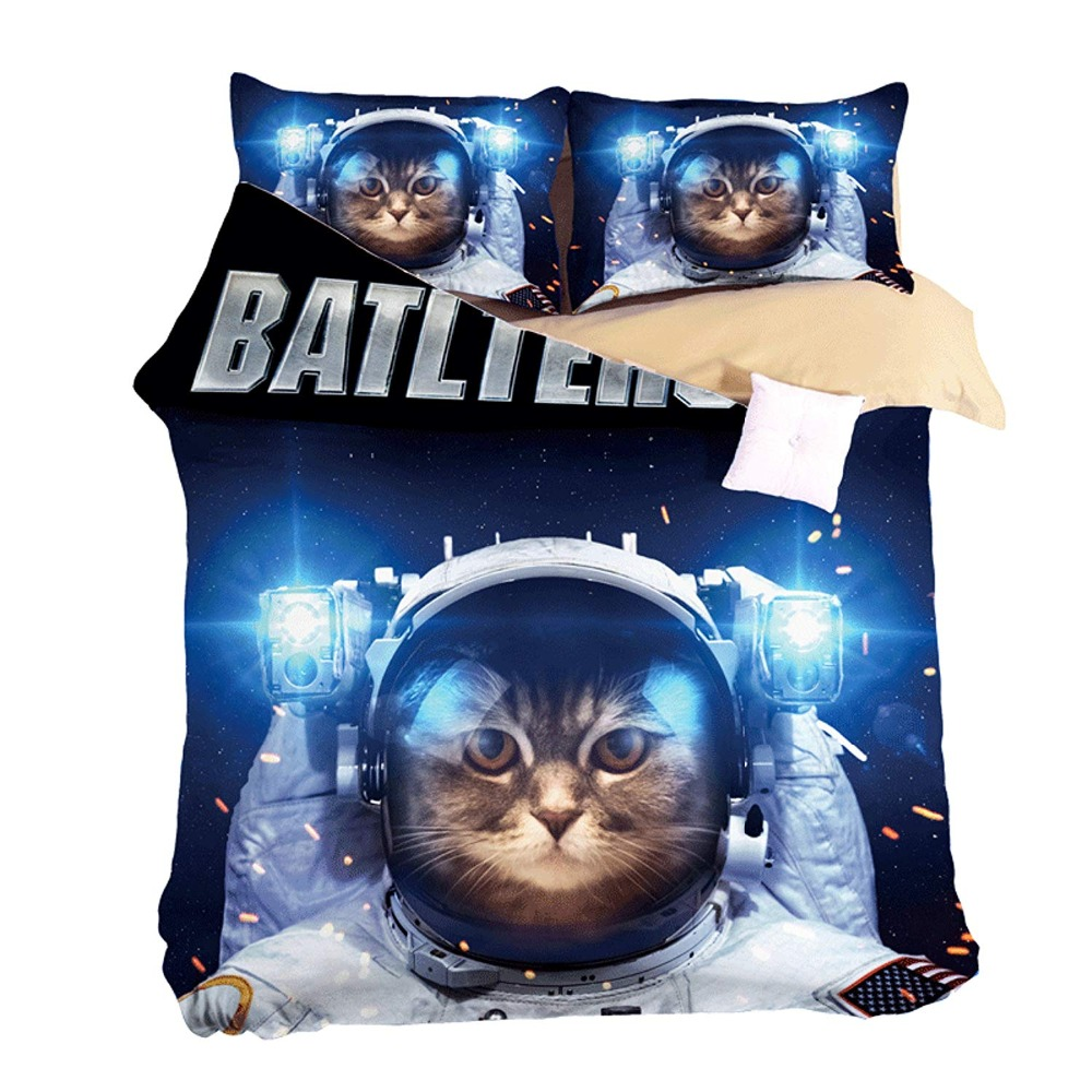 3D Space Cat Bad Dog Bedding Sets Pirate Duvet Cover Set 3/4pcs Cartoon Monkey Bedspread Twin Queen King Size Adults Kids Boys  3D Space Cat Bad Dog Bedding Sets Pirate Duvet Cover Set 3/4pcs Cartoon Monkey Bedspread Twin Queen King Size Adults Kids Boys