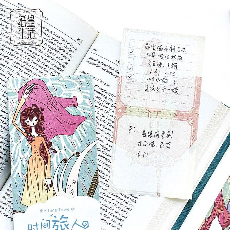 12 компл./1 лот Творческий время Traveler Блокнот заметки Эсколар papelaria поставка школы закладки этикетки