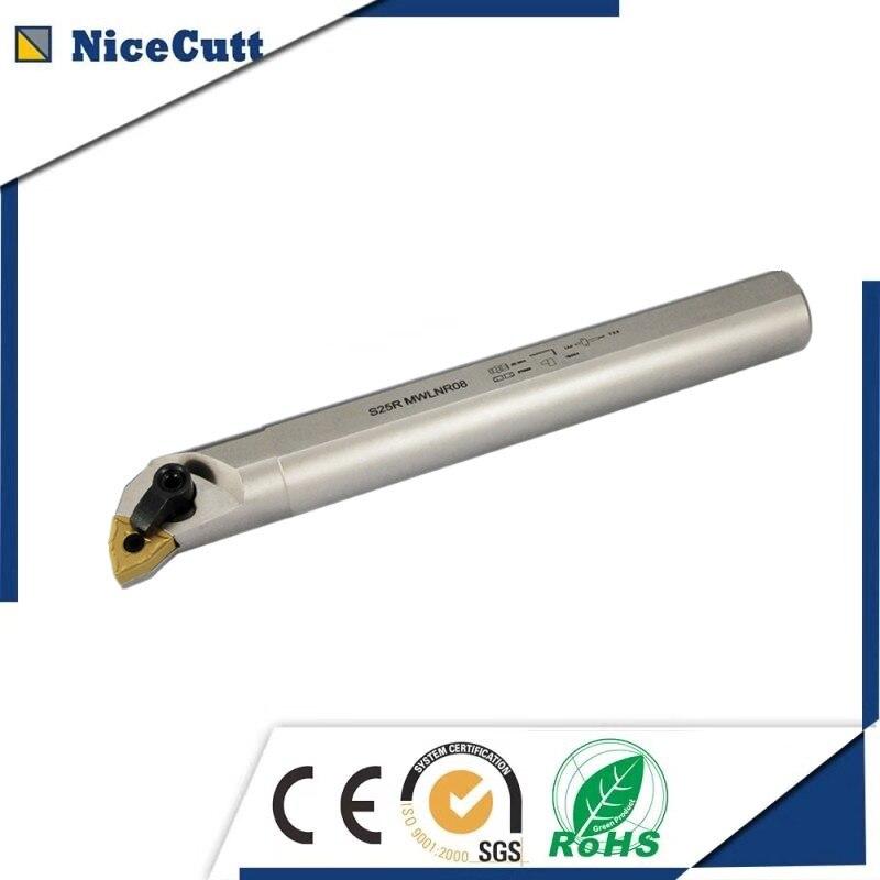 NiceCutt S25S/S25R-MWLNR/L08 Nicecutt Internal Turning Tool Holder For WNMG Insert Lathe Tool Holder