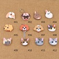 Cute Lovely Puppy Pug Cat Rabbit Soft Rubber Key Cover Cap Keychain Key Ring Single Side