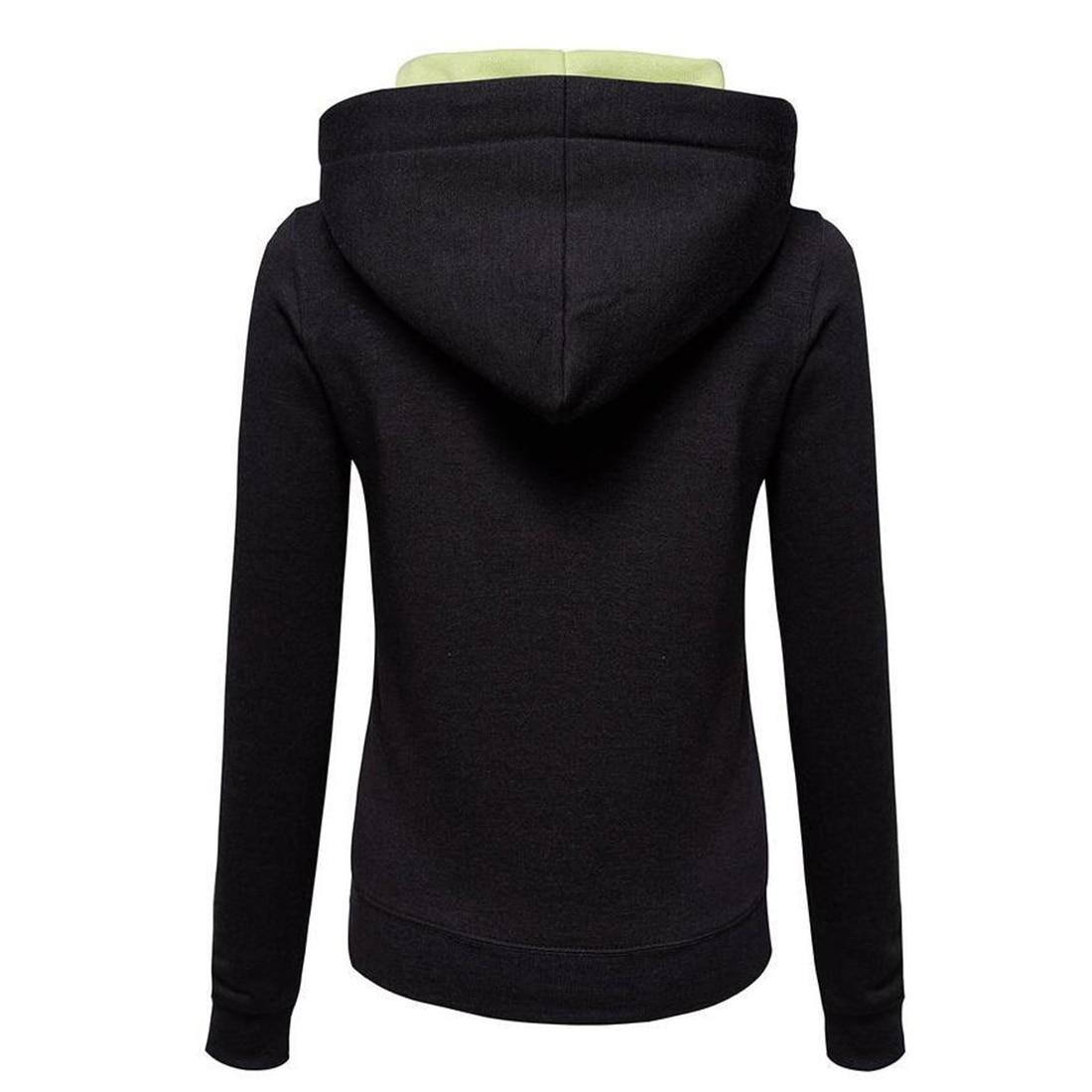 2017 Fashion Hoodies Dames Sweatshirt Casual lange mouw Hooded Hoodie - Dameskleding - Foto 6