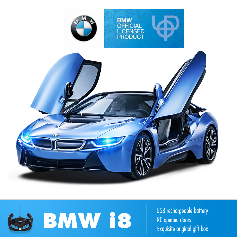 Rastar BMW RC voiture 1:14 i8 télécommande jouets RC transformer porte ouverte jouet voiture enfants jouets amusants pour garçons boîte originale enfants cadeau