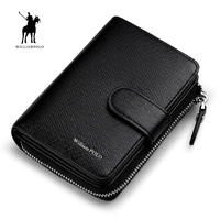 WILLIAMPOLO 2019 Genuine Leather Men Wallet Card Holder Hasp Small Wallet Men PL319