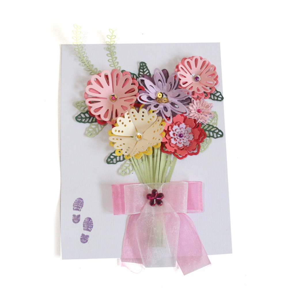 Diy 3d Flower Set Metal Cutting Dies Stencils Greeting Card Decor