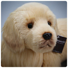 Ultra realistic Golden retriever stuffed animal plush puppy Doll similate 65cm long large size dog plush dolls for birthday gift