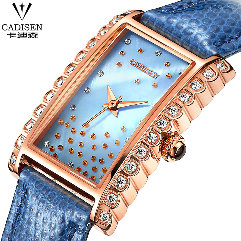 Top Brand Leather Strap Women Watch Crystal Diamond Dress Ladies Casual Quartz Watches Sport Wristwatch blue Watches