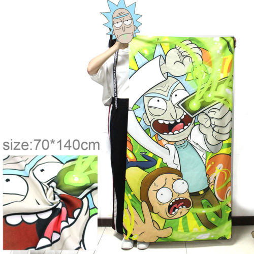 Cartoon Pattern Bath Towel Rick and Morty Printing Towel Microfiber Bath Towel Bathroom Outdoor Travel Sport Streaking Towels