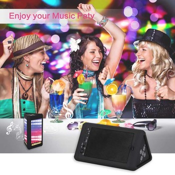 Bluetooth 4.0 Speakers Portable Wireless LED Light Visual Display Mode Built-in Mic Hands-free 8899