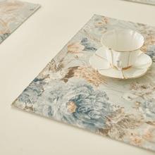 Свободные грузы ткань столовых Европейский Роскошный теплоизоляционных матрас Американский стиль стол коврик Ботанический сад подставки для столовых приборов