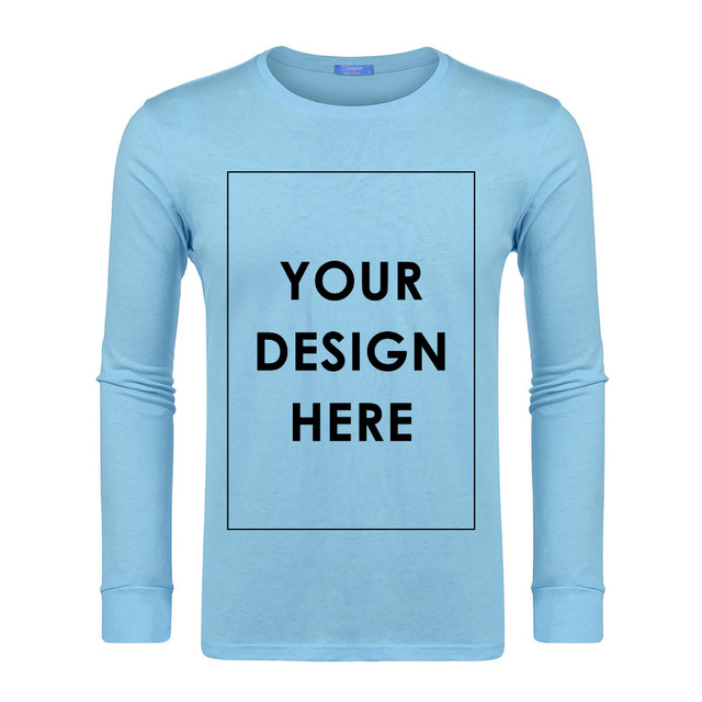Ekouaer Cotton Sleep Top Men Casual Fashion Long Sleeve O-neck Solid Pullover Cutomized Design DIY Male Sleepwear Shirt