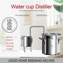 12L/20L/33L/50L Moonshine Homebrew Home wine distiller brandy whiskey vodka brewing special cup distiller brewing equipment 25l large capacity stainless steel wine brewing machine distillation wine equipment alcohol vodka liquor distiller pot boilers