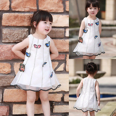 summer princess dress 2016 girl dress wholesale baby kids girls dress butterfly tulle tutu dress sleeveless sundress 2-7Y