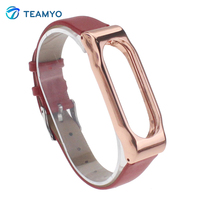 2016 Xiaomi Miband 2 Replace Leather Strap Xiaomi Mi Band 2 Bracelet Accessories Smart Band Screwless