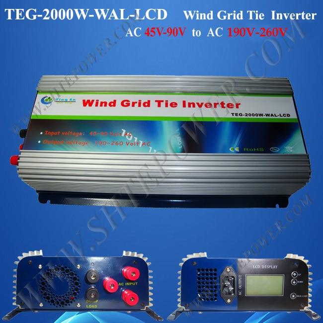 2kw grid tie inverter ac to ac 220v 48v grid tie inverter with lcd display inverter 48v 2kw inverter for solar systems inverter 48 volt inverter 220v 2kw