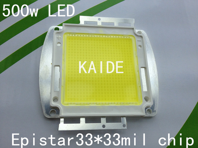 500 w lumière led source taiwan Epistar 33mil puce intégration led substrat en cuivre appliquer led projet-lumière lampe led haute baie