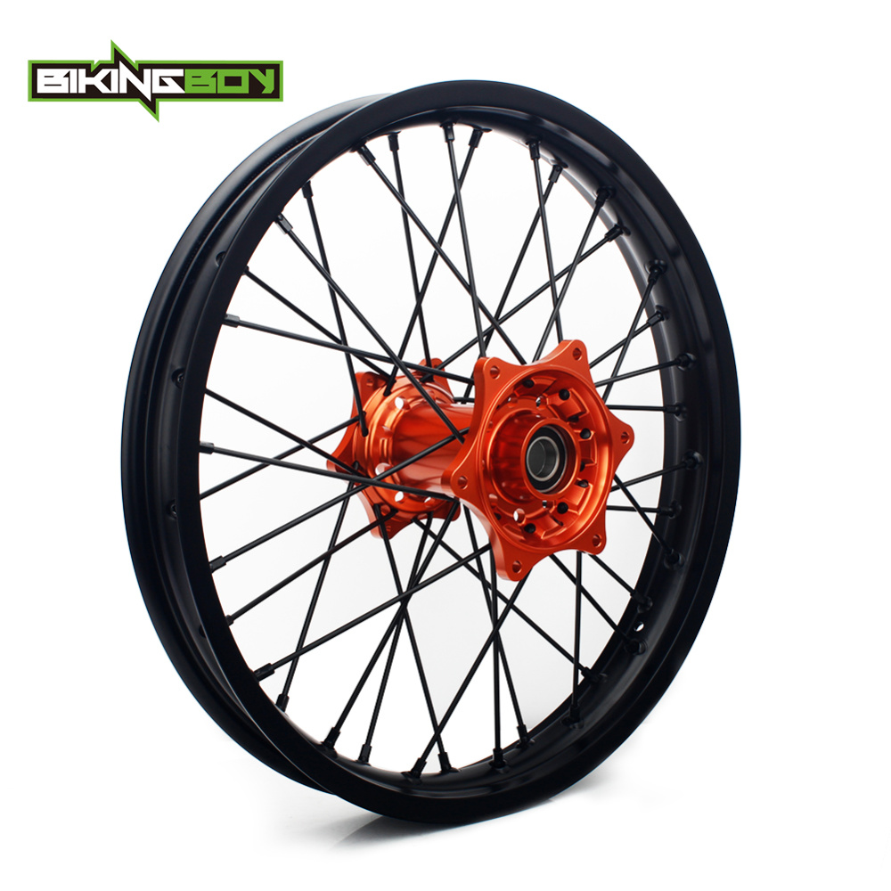 BIKINGBOY 18 MX Motocross Supermoto Rear Wheel Rim Hub 36 Holes for KTM 125 625 EXC