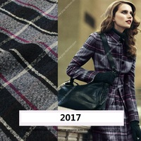 Italy warm red skin soft cashmere wool knitted fabrics imported fashion cardigan sweater Pullover cloth
