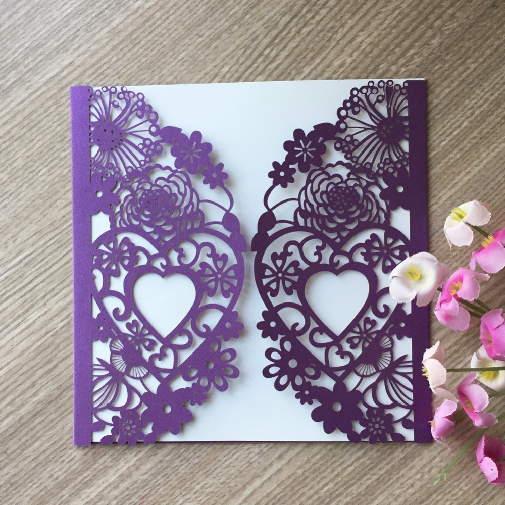 30pcs Luxury Wedding Invitations Card Elegant Lace Flower Party Invitation Card Wedding decoration Event & Party Supplies