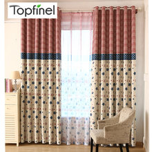 Top Finel Star & Stripe Blackout Curtains for Living Room Bedroom Kids Room Chinese Cheap Window Curtains Drapes Home Decoration(China)
