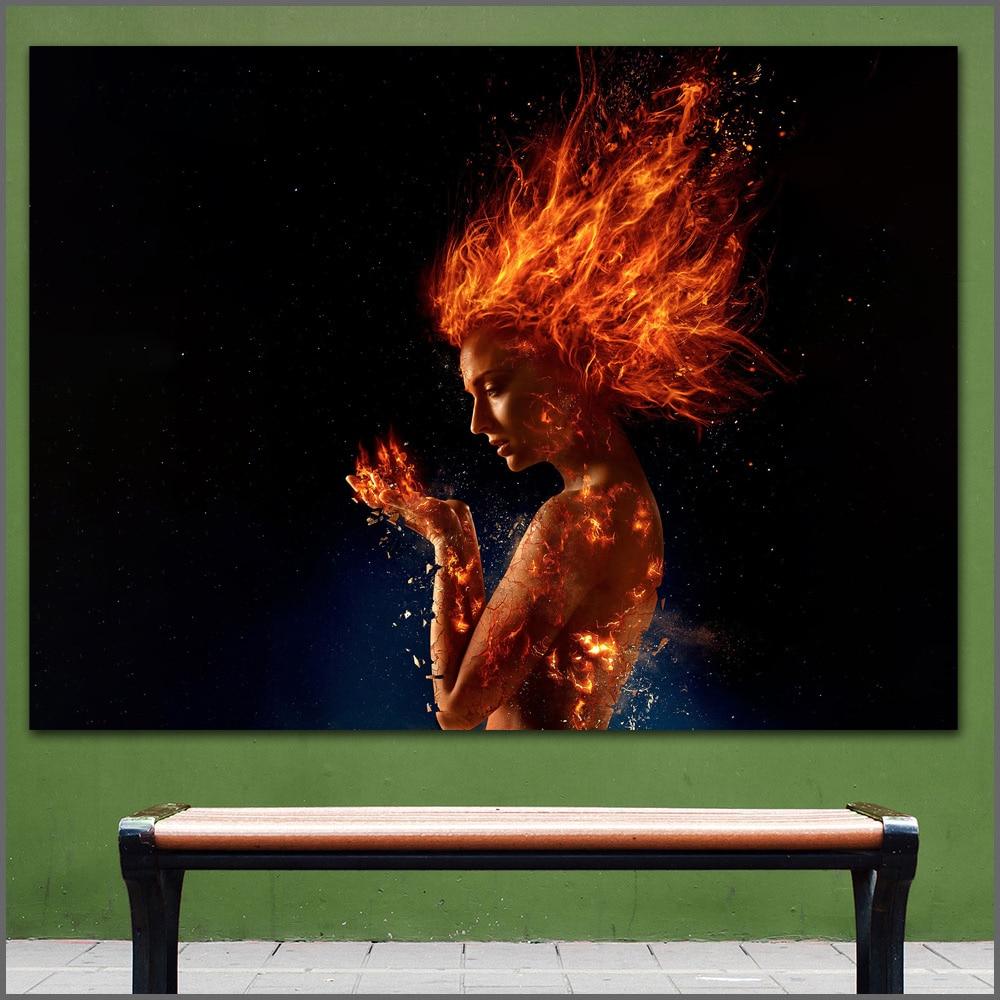 Large Size Printing Fire X Dark Phoenix Sophie Wall Art