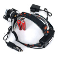 6000Lm 4-Modes  Light bead T6 Headlamp / Camping Fishing Light +2*18650 battery+Car EU/US/AU/UK charger