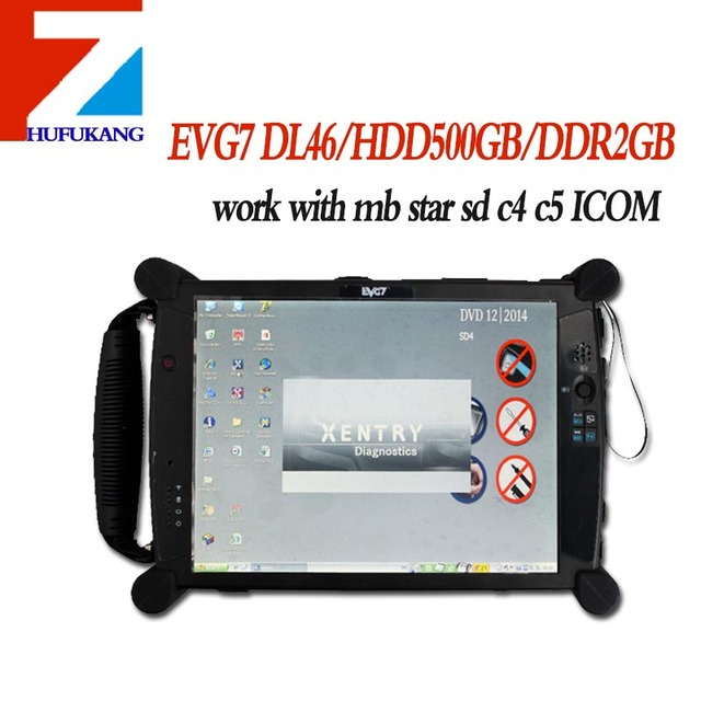 Hot seller EVG7 DL46/HDD500GB/DDR2GB Diagnostic Controller Tablet PC (Can Work With MB SD C4 ICOM GDS software )