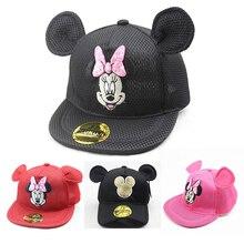 Мультяшная детская шляпа, бейсболки для девочек, летняя уличная детская Солнцезащитная шляпа, шляпа Микки Мауса, дышащий сетчатый солнцезащитный козырек