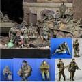 1/35 масштаб Современных Российско-Чеченской Войны Классика 8 человек миниатюры Resin Kit Модель рисунок Бесплатная Доставка