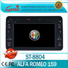 For Double din car dvd gps  For Fiat Alfa Romeo 159 (2005 onwards) With gps bluetooth radio PIP ipod USB SD Slot
