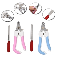 Pet Care Tool Dog Nail Clippers Puppy Zig Zag Scissors Pink Blue Cat Scissors Dog Claws