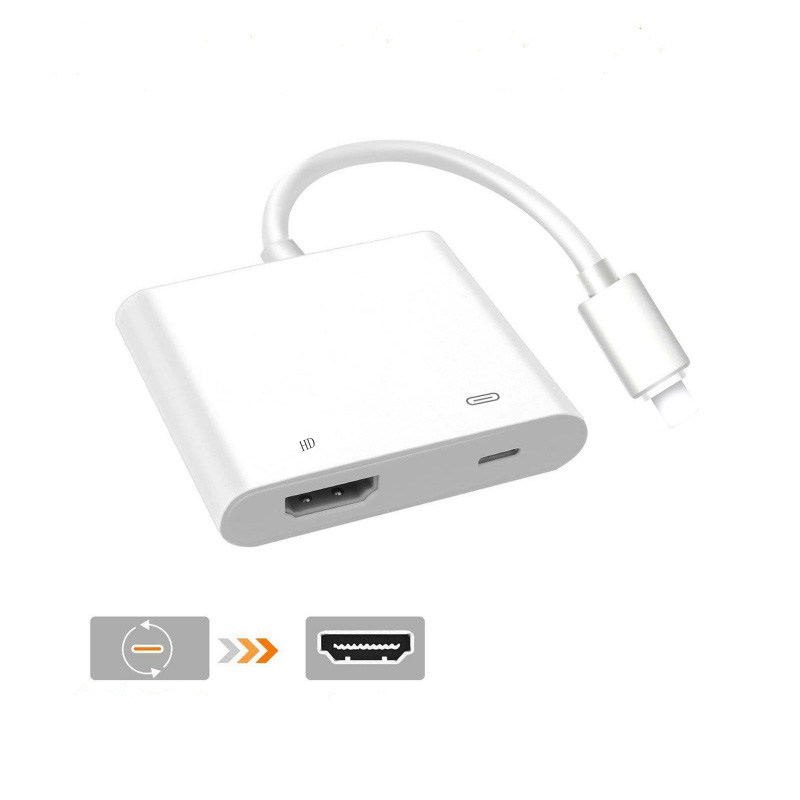 EDAL For iPhone HDMI Cable Adapter For Lightning 8Pin to HDMI Digital AV Converter for iPad iPhoneX 8 8Plus 7 7P 6 6S For IOS 11