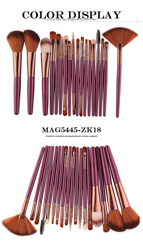 18Pcs/lot Brand Brushes Makeup Brush Set maquiagem Cosmetics Power Foundation Blush Eye Shadow Blending Fan Make Up Kits Beauty 9